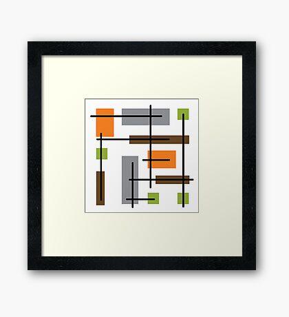 Cubicle Atomic Era Art Framed Print