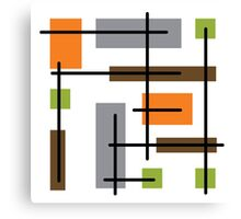 Cubicle Atomic Era Art Canvas Print