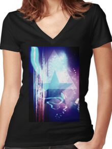 Sway 9 Women's Fitted V-Neck T-Shirt