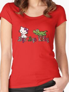 Bye Bye Kitty Women's Fitted Scoop T-Shirt