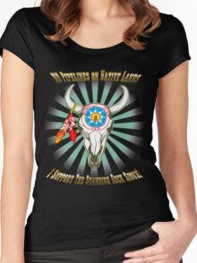 Buffalo Steal Ya Face Standing Rock Sioux Women's Fitted Scoop T-Shirt