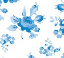 cute, pale blue, flowers,floral,shabby chic, vintage,girly,modern,trendya Sticker