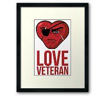 Love Veteran Framed Print