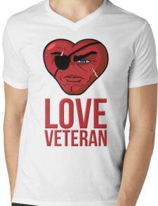 Love Veteran Mens V-Neck T-Shirt