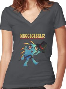 Murloc Women's Fitted V-Neck T-Shirt