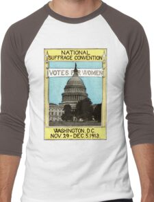 1913 Votes For Women Men's Baseball ¾ T-Shirt