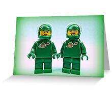 Lego Space Pete & Yve Greeting Card