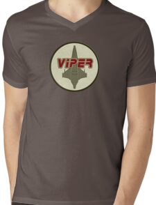 Battlestar Galactica Viper patch Mens V-Neck T-Shirt