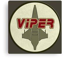 Battlestar Galactica Viper patch Canvas Print