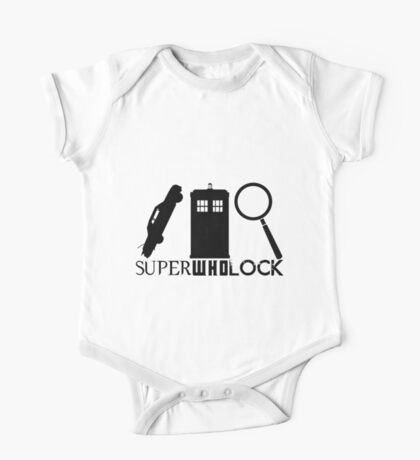 SuperWhoLock - Impala, T.A.R.D.I.S & Magnifying Glass One Piece - Short Sleeve