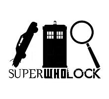 SuperWhoLock - Impala, T.A.R.D.I.S & Magnifying Glass by hellafandom