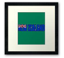 New Zealand Flag Framed Print