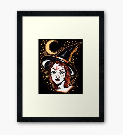 skeptical witch Framed Print