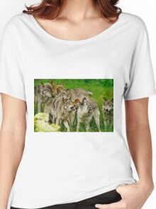 Timber Wolves at Play Women's Relaxed Fit T-Shirt