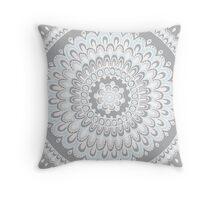 Mandala white Throw Pillow