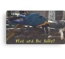 Play and Be Silly Canvas Print