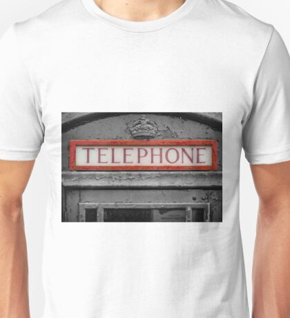 British Phone Box Unisex T-Shirt