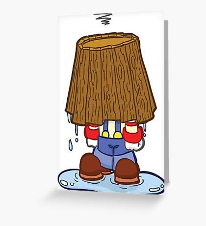 HeinyR- Clown Bucket Head Greeting Card