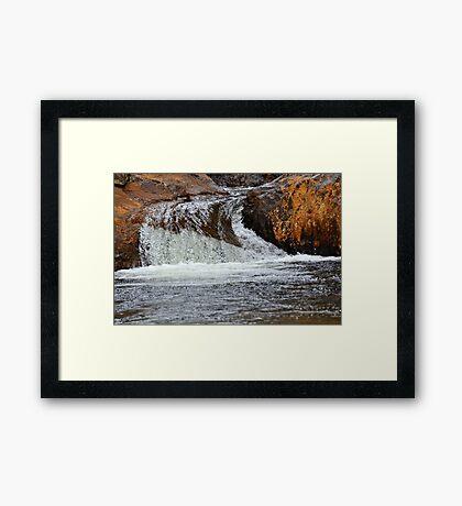 Lower falls and pool at Smalls Falls Framed Print
