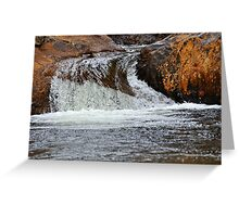 Lower falls and pool at Smalls Falls Greeting Card
