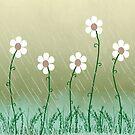 Five Daisies by Rosalie Scanlon