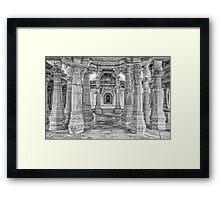 Inside Jain Temple at Ranakpur - India Framed Print