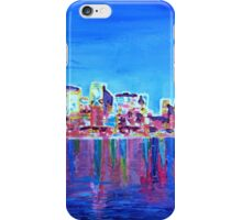 Neon Shimmering Skyline of Chicago at Night iPhone Case/Skin