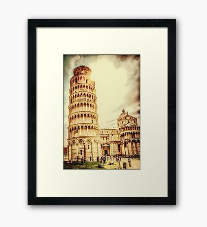 Parrocchie di Pisa and Tower Framed Print