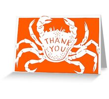 Orange Crab Thank You Greeting Card