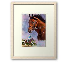 American Pharoah, Triple Crown Winner Framed Print