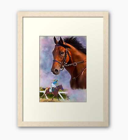 American Pharoah, Triple Crown Winner Framed Print
