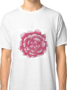 Pink glitter flower  Classic T-Shirt