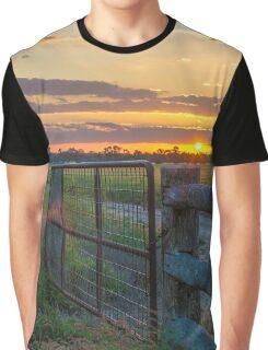 Rural Sunset Graphic T-Shirt