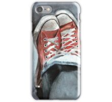 Faded denims and All Star Converse iPhone Case/Skin