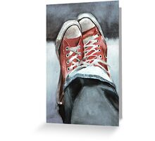 Faded denims and All Star Converse Greeting Card