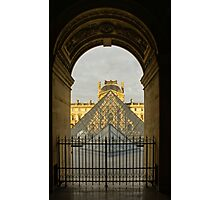 Waiting for the Louvre to Open Photographic Print