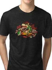 MARIO MADNESS BOWSER Tri-blend T-Shirt