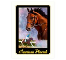 American Pharoah, Triple Crown Winner with Name Plate Art Print