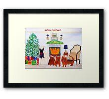 Merry Christmas Card for Katrina Framed Print