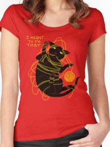 Crafty Cat Meant to do That Women's Fitted Scoop T-Shirt