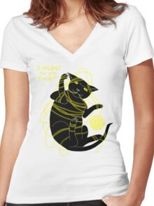 Crafty Cat Meant to do That Women's Fitted V-Neck T-Shirt