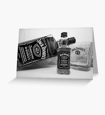 Jack Daniels On The Table Greeting Card