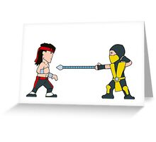'Get Over Here!'  Fatal Kombat - (Wee-Guys) Greeting Card