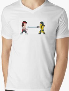 'Get Over Here!'  Fatal Kombat - (Wee-Guys) Mens V-Neck T-Shirt