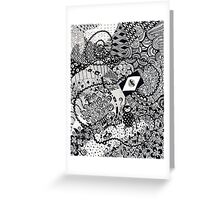 The Monkey with the Very Long Tail Greeting Card