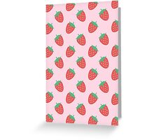 Strawberry Pattern Greeting Card