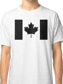 Canadian Flag Black And White Classic T-Shirt