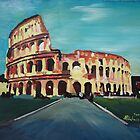 Monumental Coliseum in Rome Italy by artshop77
