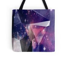 New Age Surreal Universe Faceted Geometric Print Tote Bag