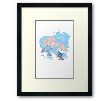 Roller skaters Framed Print